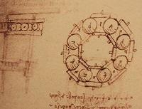 Szkice łożyska Leonardo da Vinci'ego