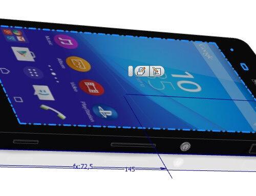 wizualizacja produktu telefon sony m4aqua