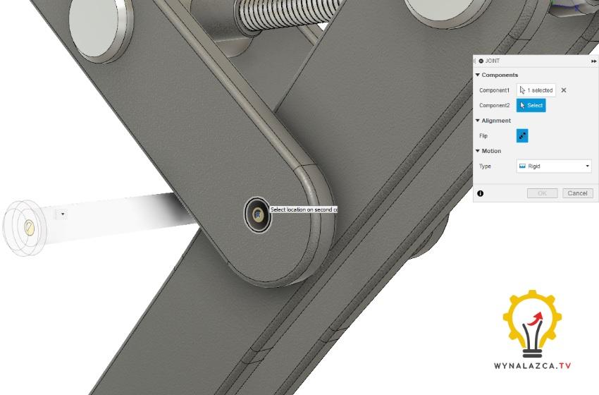 wiązanie model 3d podnośnika śrubowego