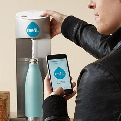 Wynalazek filtrowanej stacji wodnej Refill