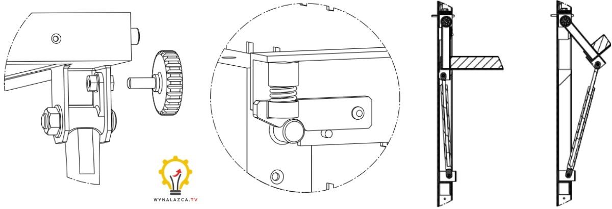 Mechanizmy do unoszenia blatu stołu montażowego
