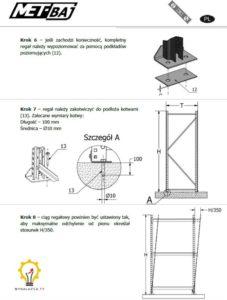 Strona z instrukcji montażowej