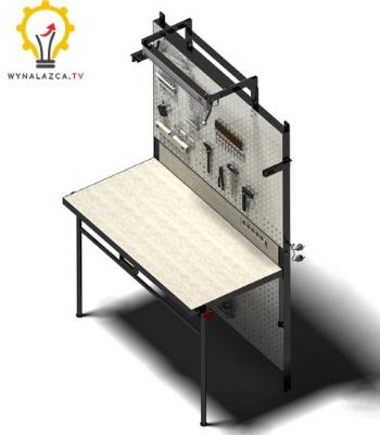 Wynalazek stołu montażowego: wizualizacja 3D