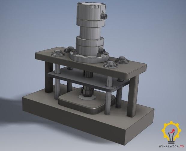 Model CAD prasy hydraulicznej