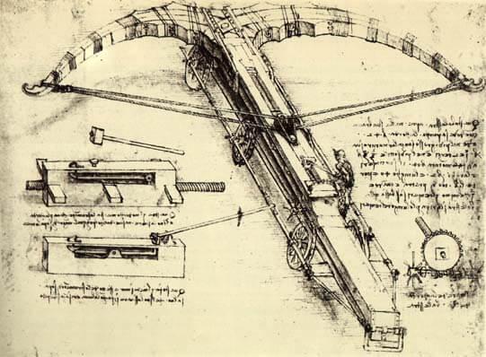 Projekt ogromnej kuszy Leonarda Da Vinci