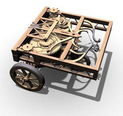 Rekonstrukcja wynalazku samobieżnego Leonarda