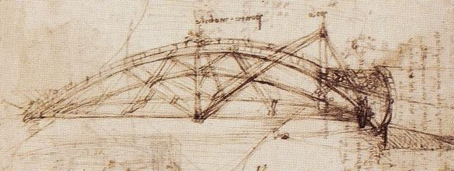 Projekt składanego mostu obrotowego Leonarda Da Vinci