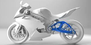 Projekt motocykla z tylnym wahaczem zaprojektowanym z wykorzystaniem GD