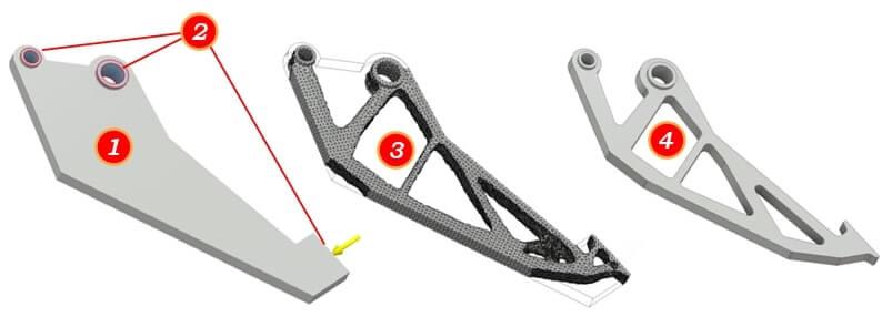 Optymalizacja topologiczna części za pomocą CAD