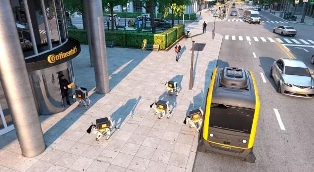 Wynalazki robo-psy dostarczające paczki