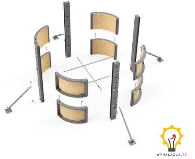 Modułowy szalunek do budowy obiektów budowlanych