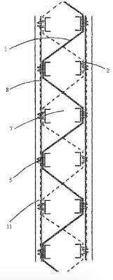 Patent ściany szalunkowej z usztywnieniem