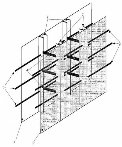 Polski wynalazek szalunku ściany betonowej