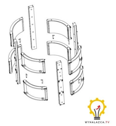 Szalunek do filarow wynalazek