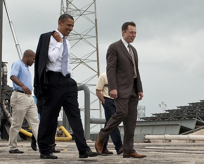 Barack Obama i Elon Musk
