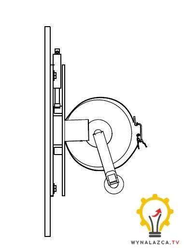 Zasada działania suwaka przy blokowaniu obrotu wieszaka i uchwytu obrotowego do gaśnic