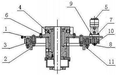 Wzór użytkowy obrotowego wieszaka do gaśnic