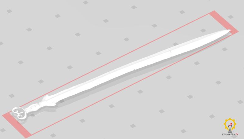 Model 3D miecza otrzymany od Muzeum