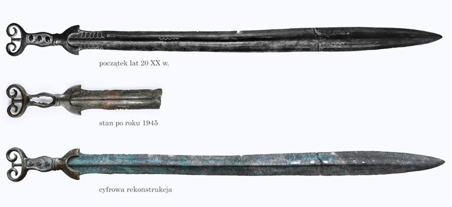 Wygląd odtwarzanego miecza w poszczególnych okresach