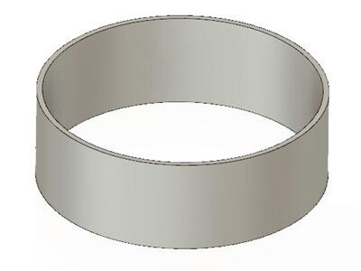 Model cylindra silnika Stirlinga
