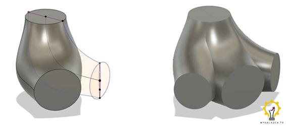 Modelowanie podstawowej bryły ortezy dla kury