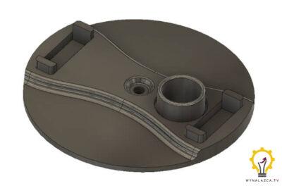 Model podstawy górnej prototypu Silnika Stirlinga