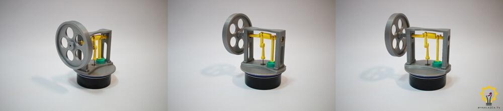 Prototyp silniku Stirlinga