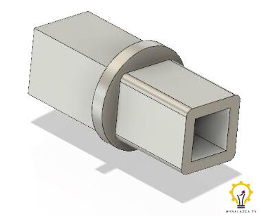 Model przejściówki do koła zamachowego silnika Stirlinga