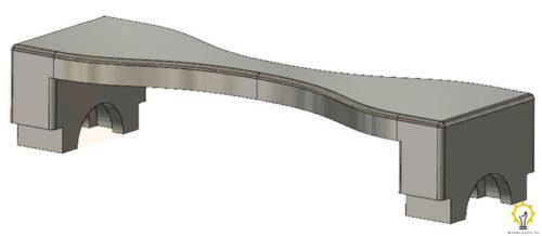 Model stabilizatora silnika Stirlinga