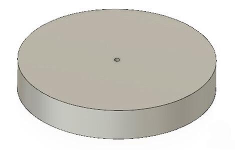 Model tłoka gorącego silnika Stirlinga
