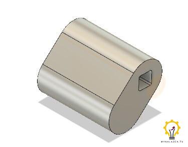 Model wału korbowego prototypu silnika Stirlinga - łącznik