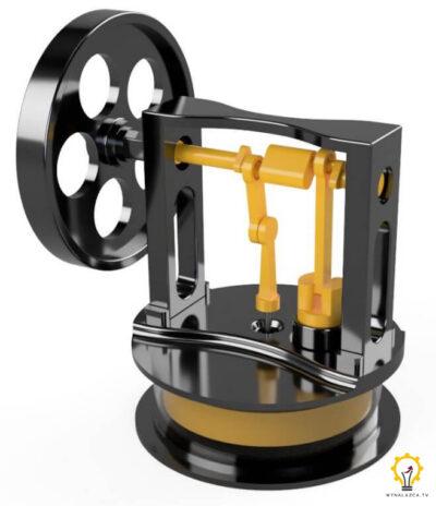 Wizualizacja prototypu Silnika stirlinga