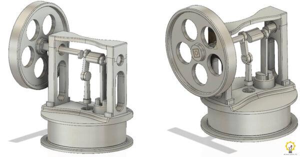 Złożony model prototypu Silnika Stirlinga